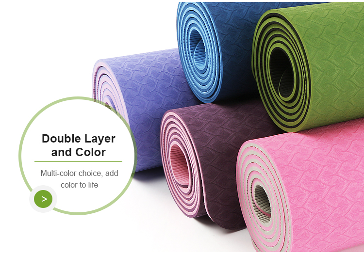 Gymnastic exercise waterproof anti slip TPE yoga mat custom logo