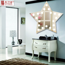 2015 New Arrival Home Decoration Five-pointed star Pattern LED bathroom Mirror
