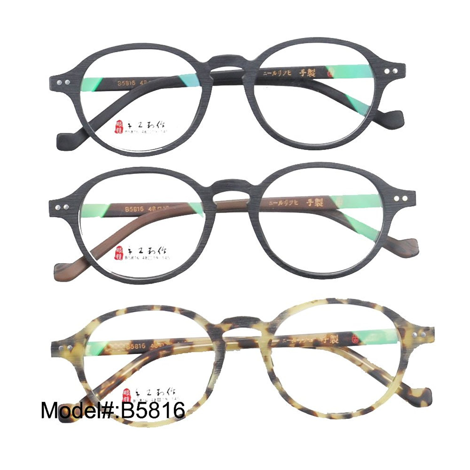 B5816 Unisex Full Rim Acetate Optical Frames Eyeglasses