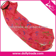 Watermelon Red Color Fashion Long Music Polyester Scarf Manufactures
