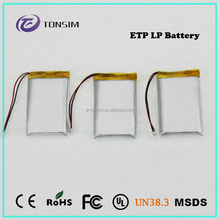 high quality 3.7V 1800mAh li-ion 053048 battery 103450 with un38.8