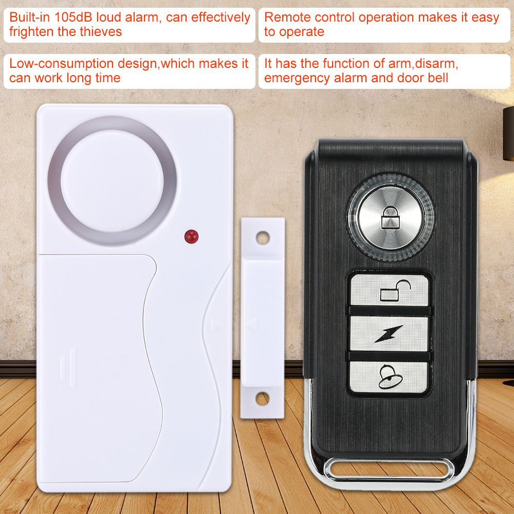 Tiny Wireless Vibration Magnetic Remote Control Sensor Alarm Home House Door Window Detector Alarm Security Alarm