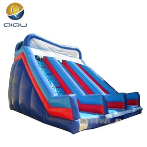 QIQU big adult inflatable water slide for amusement park customize with high quality original material