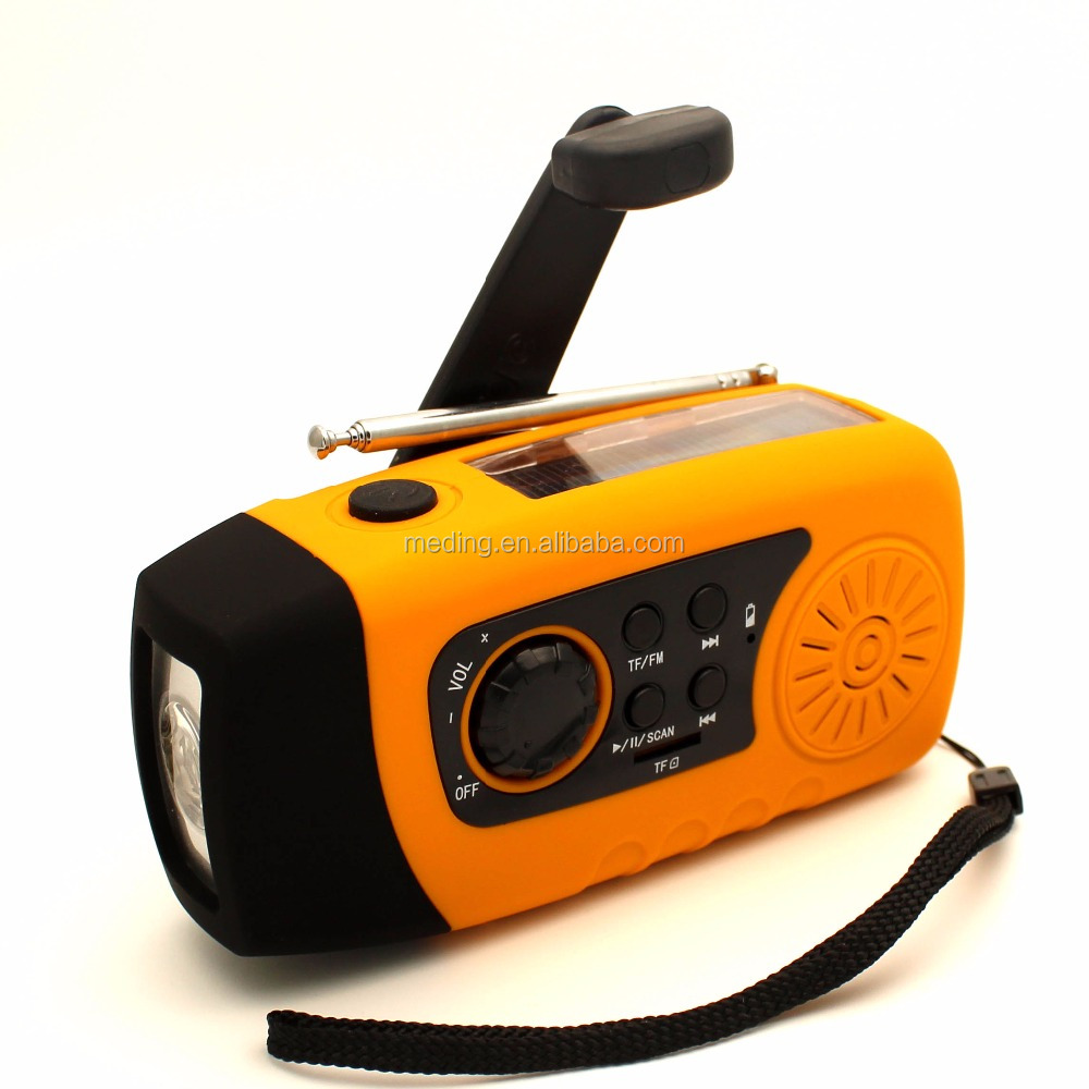 Portable fm auto scan radio with 2000 mah power bank & 1 W LED torch