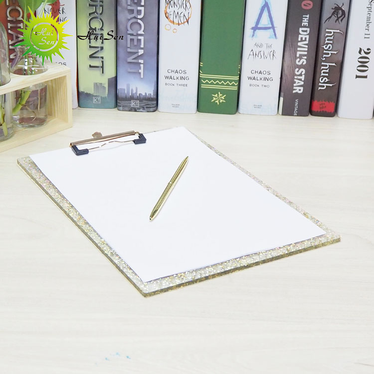 OEM & ODM morden customized plastic acrylic file folder hotel hospital office gold clipboard