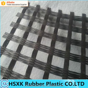 Warp Knitted polyester biaxial geogrid for roadbase reinforcement