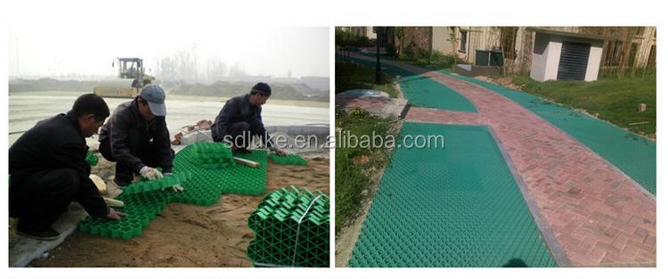 Grille d\'herbe en plastique de pavés pour parking/jardin paysager allée  grille de gravier