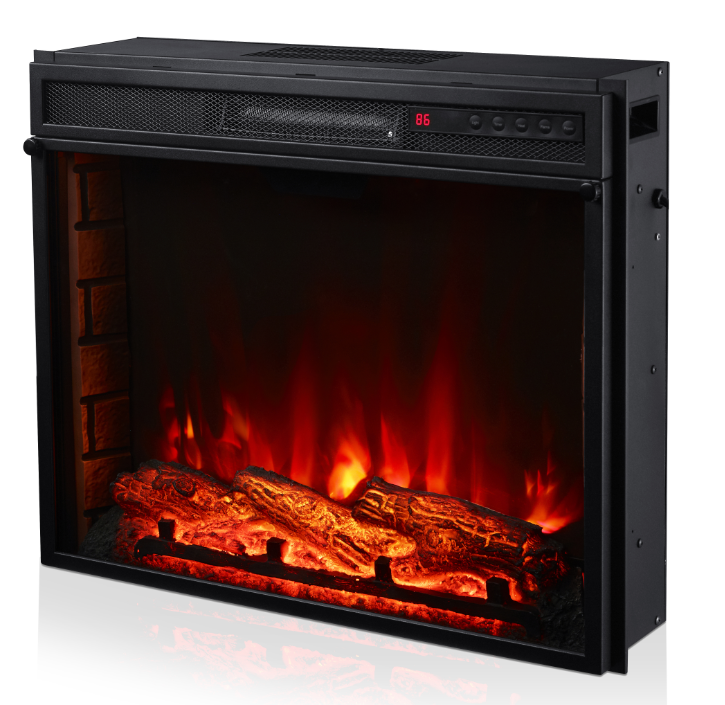 3 color flame led fireplace heater