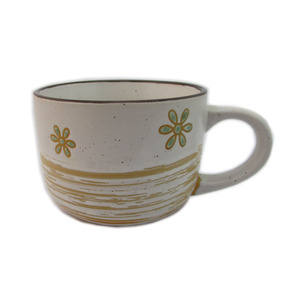 Top sale Hand painted ceramic flower coffee mug with handle
