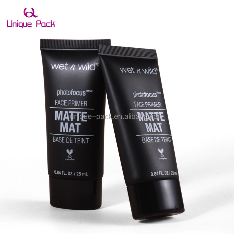 Fashionable Plastic Black Men Face Wash Squeeze Empty Tubes for Cosmetic