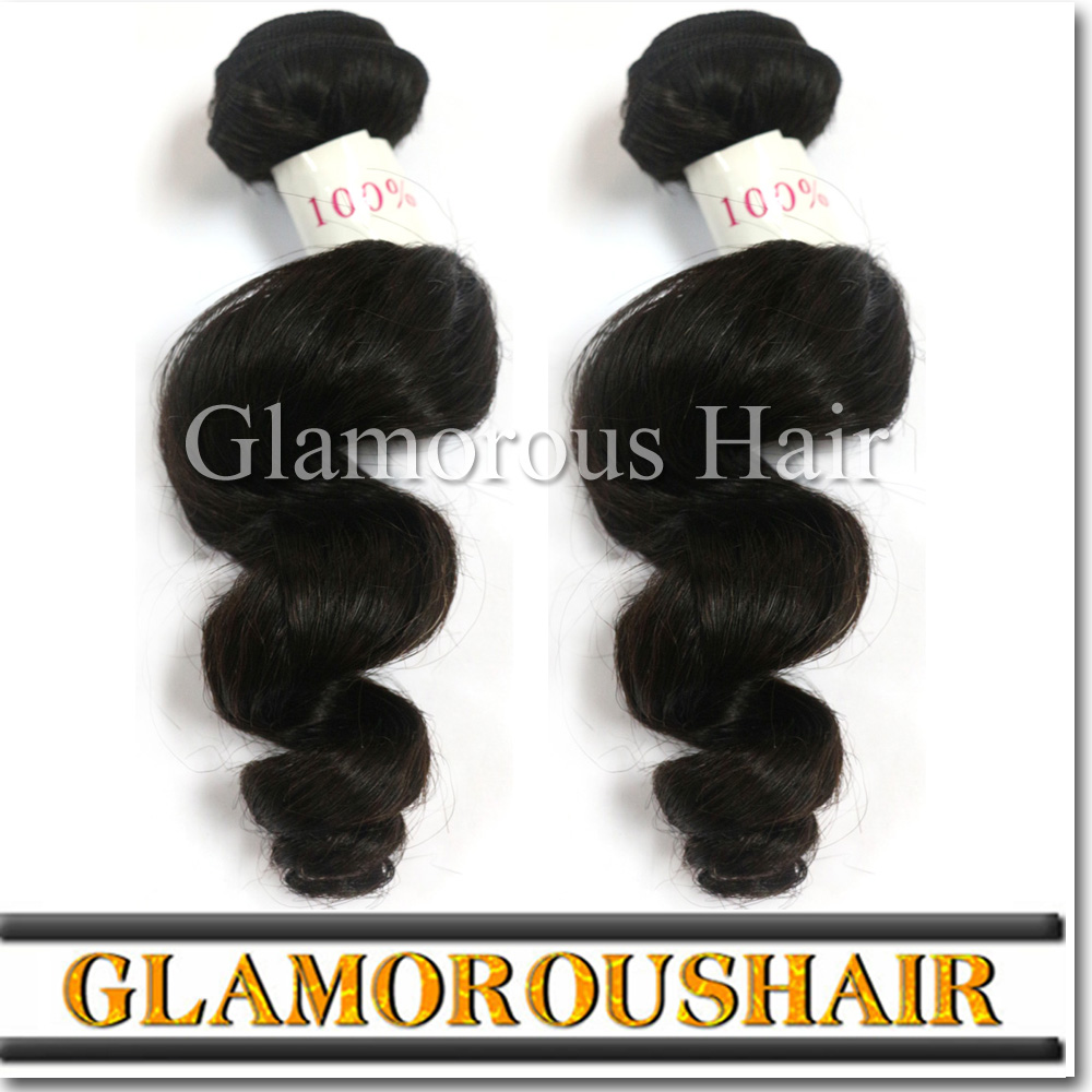 Free Shipping Huixin Hair Virgin Human Hair Indian Hair Loose Wavedouble Weft With No Smell ,Tangle And Shedding Free