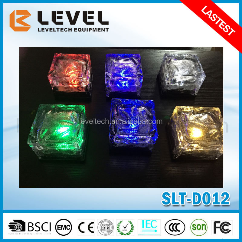 Wholesale 2016 Hot Design Switch Optional Solar Light Type LED Glass Brick For Garden