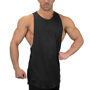 Custom 100% cotton sleeveless fitness Mens tank top for gym