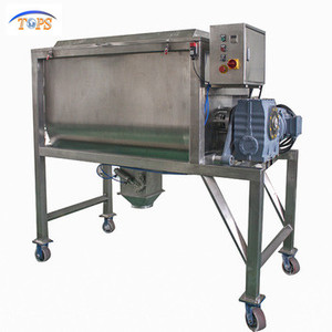 200kg Ribbon Type Horizontal Mixer/detergent Powder Mixing Machine with sprayer