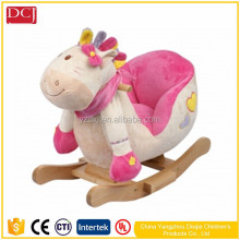 Lovely Pink Donkey Toys Baby Rocking Animals