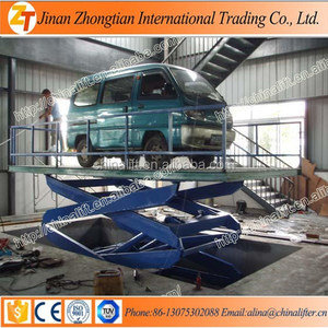 Fixed vertical hydraulic car lift used for indoor outdoor 4t hydraulic car lifter