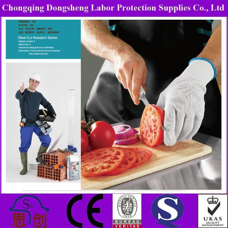 Wholesale EN388 Anti Cut kevlar Chef level 5 cut resistant gloves ...