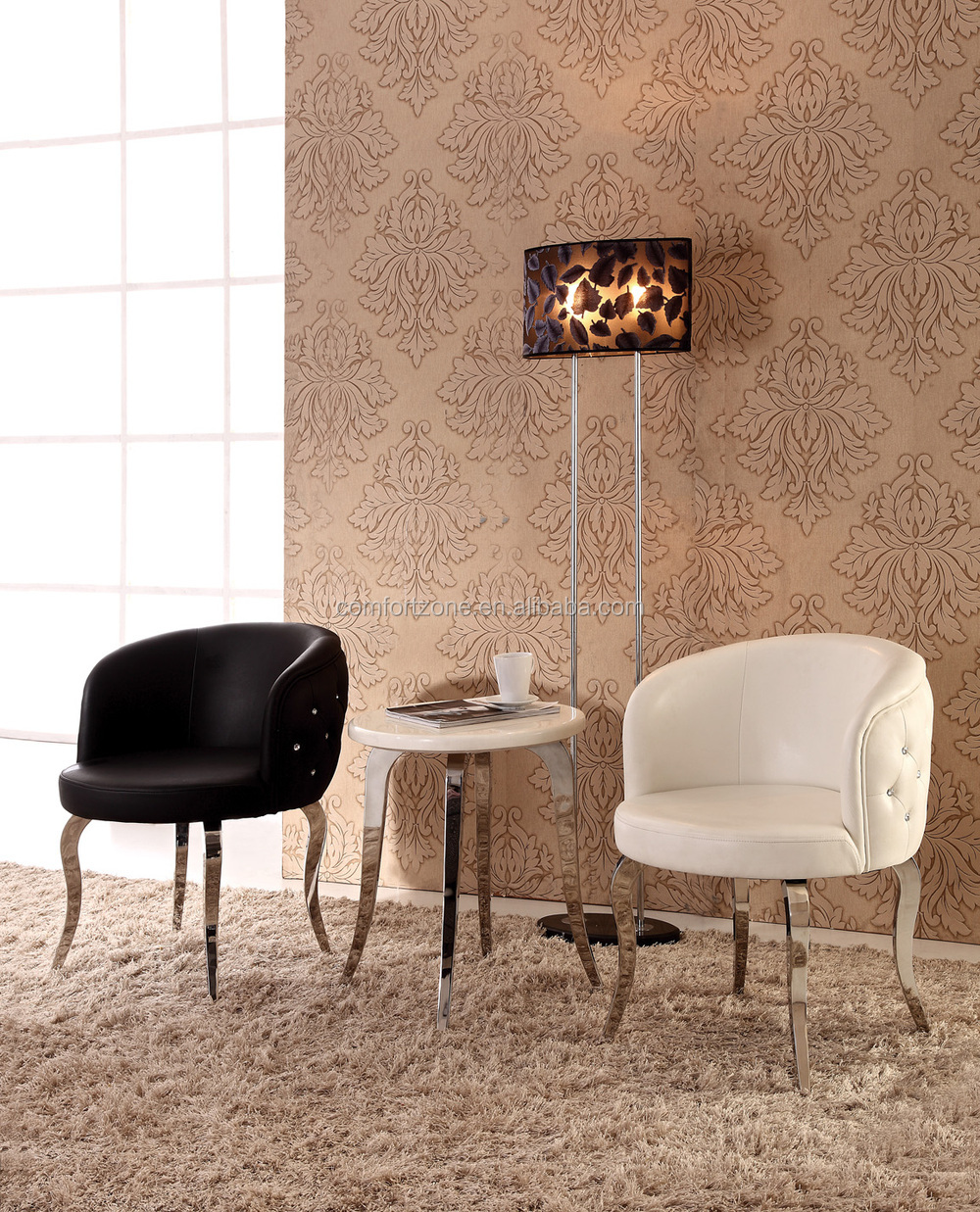 White furniture company dining