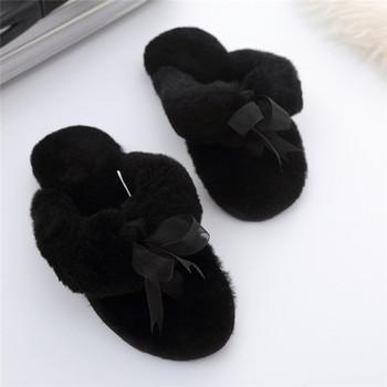 f5680dfcd58 Girls Fashion Fuzzy Sheep Fur Lined Fashion Sheepskin Slippers - Buy ...