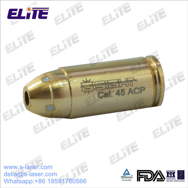 FDA Approved High Quality Gold Plated Brass 45ACP Caliber Cartridge Red Laser Bore Sight