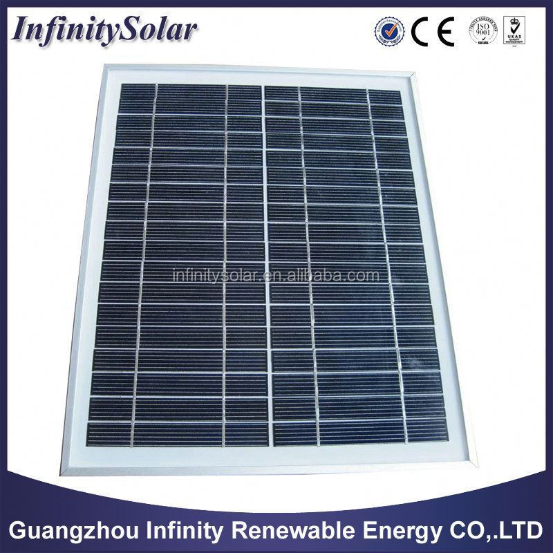 Polycrystalline Solar Modules, 10W, Concrete Base or Ballasted Foundation