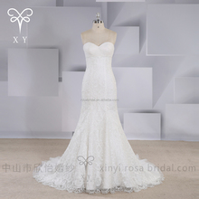 China factory sweetheart neckline lace mermaid wedding dress