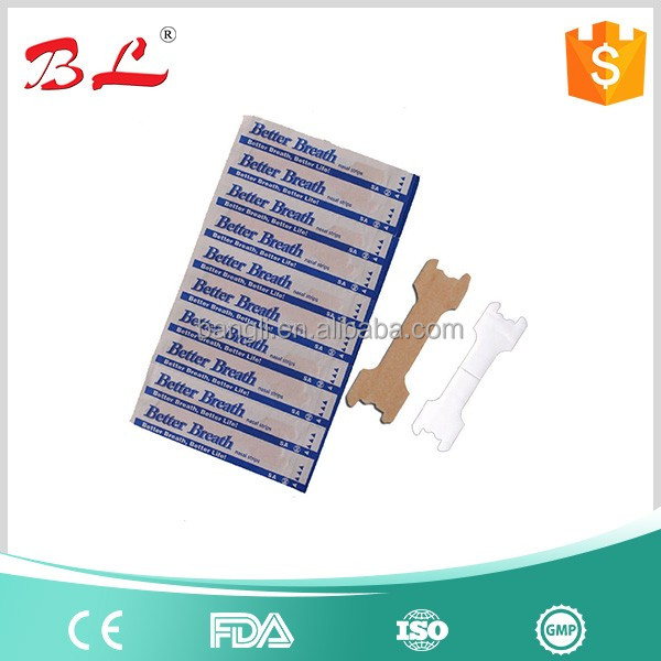 Chinese medical hot sale anti snore sleep breath nasal strip by non woven or PE