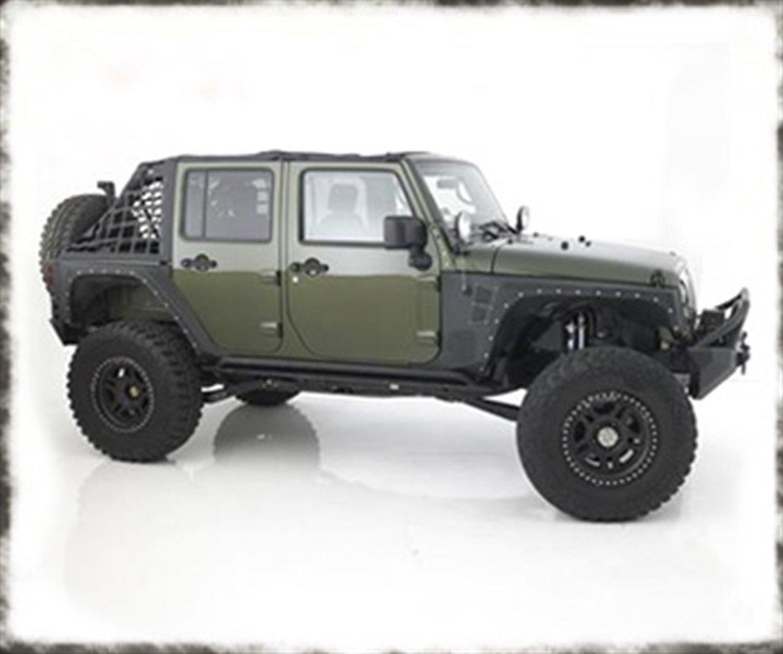 Smittybilt 76878 XRC Rear Corner Guards 76-86 CJ7 Textured Black