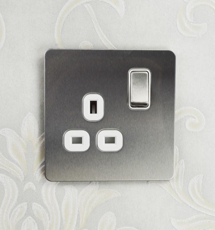 Screwless Telephone Master BT Socket-Chrome Brossé