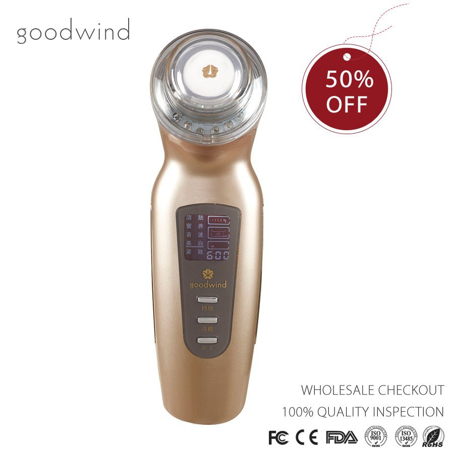 The newest protable mini effective ultrasonic wave beauty skin care machine