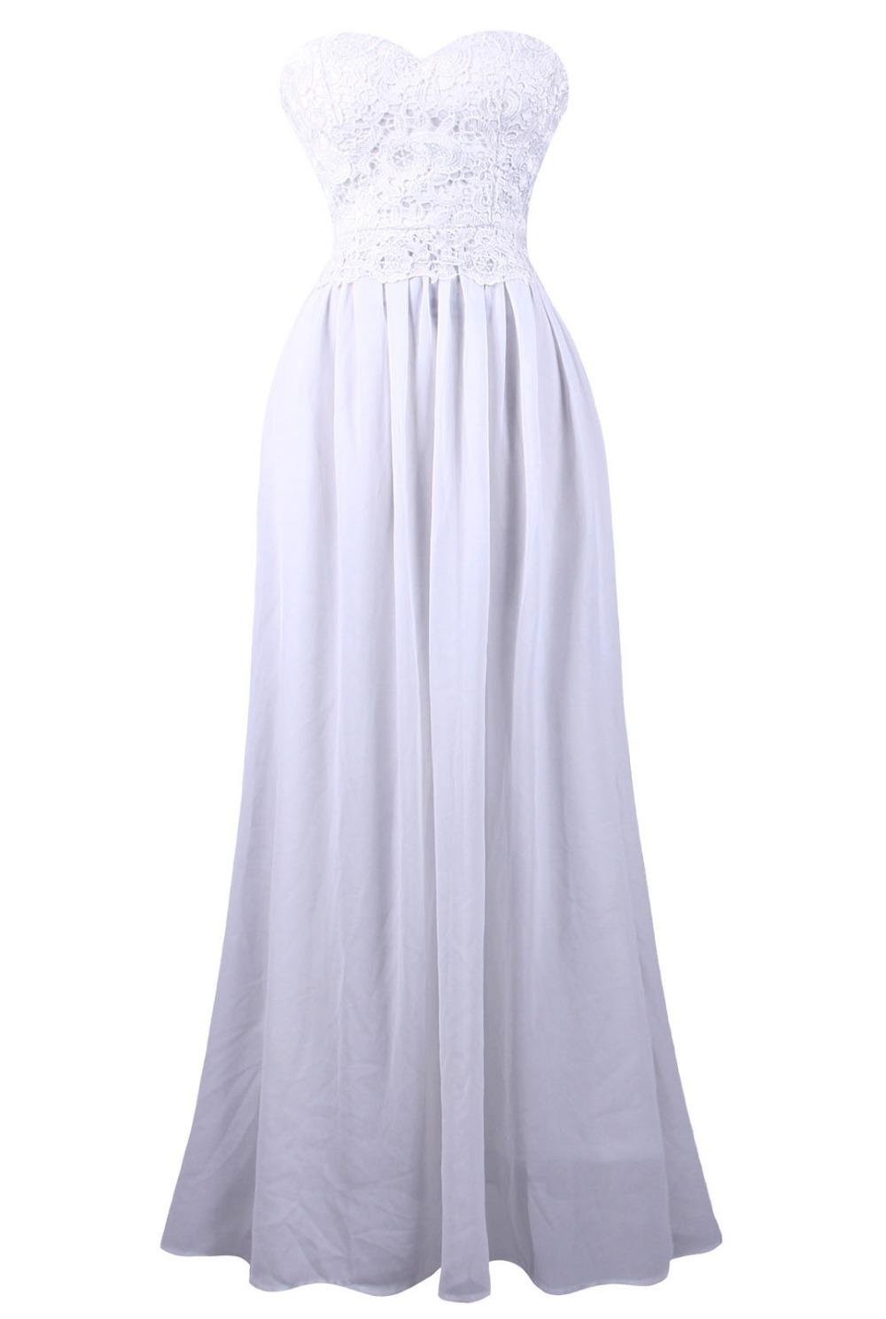 ccf2280189d Get Quotations · Strapless Lace Lace up Pleat Chiffon long Evening Dress  vestidos de noche robe de soiree long