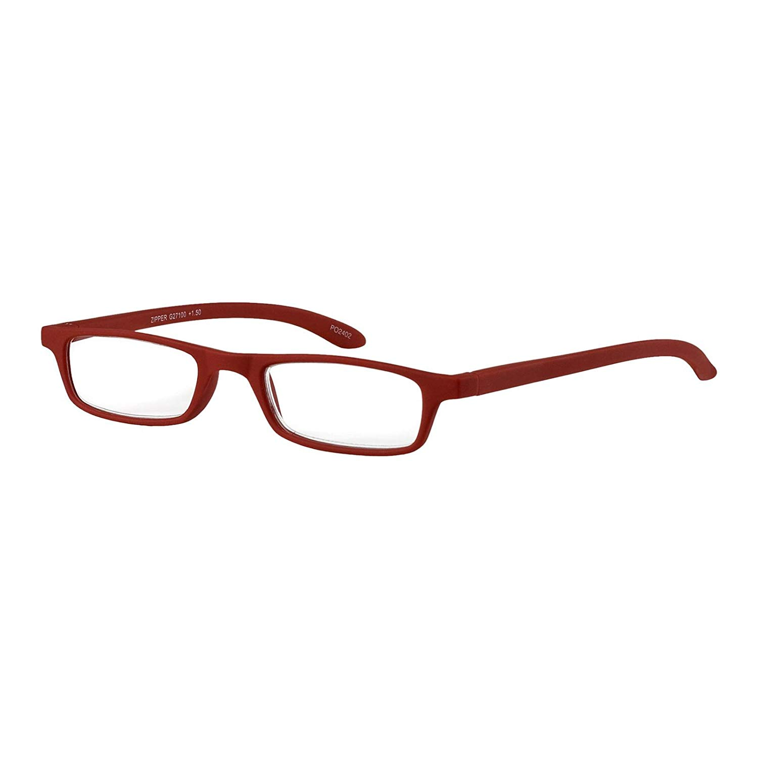 a168edeca9d53 Get Quotations · I NEED YOU Rectangular Reading Glasses Red Zipper Designer Frames  For Men   Women With Spring