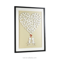 wooden sign wedding frame guest book from china