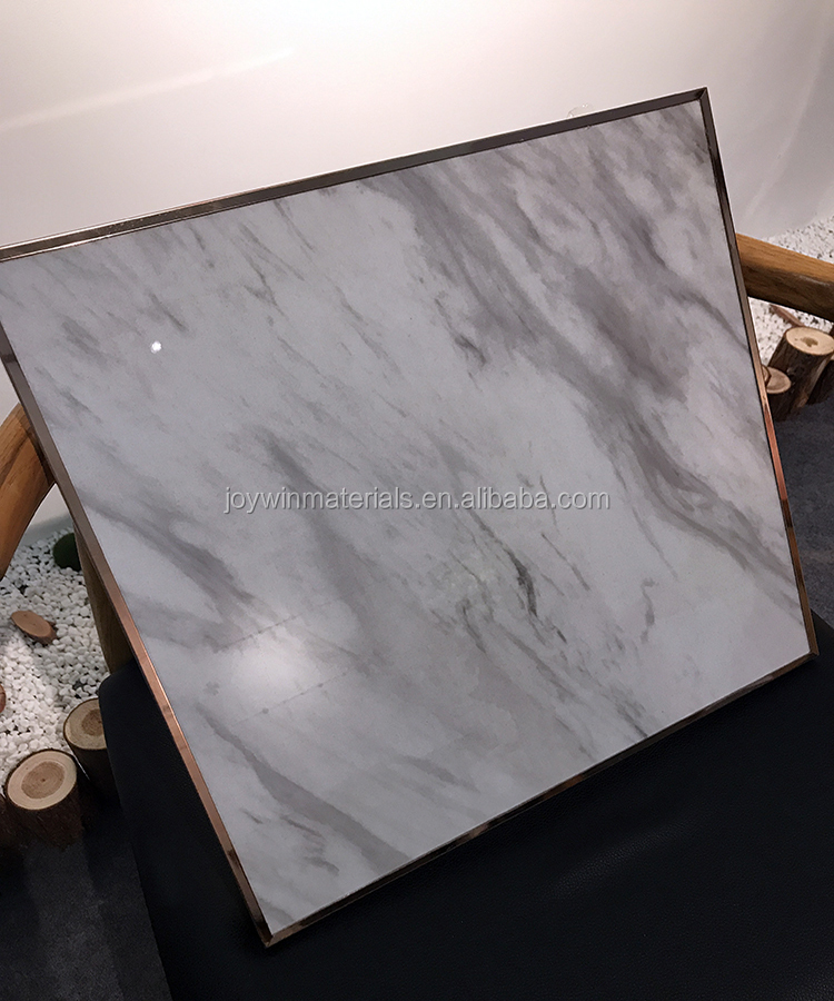 Cheapest! Marble effect high glossy UV painted MDF/Plywood/particle board panel for kitchen cabinet