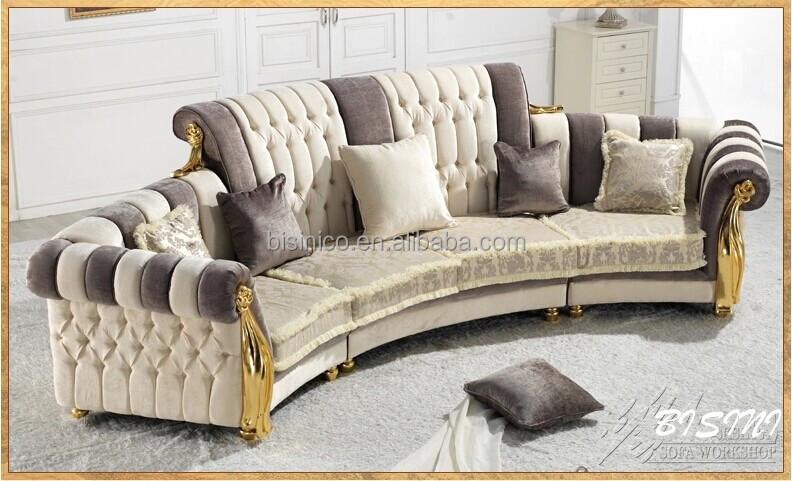 Engels Romantisch Meubels, Heldere Kleur Klassieke Sofa, Uniek Design  Royale Woonkamer Bankstel