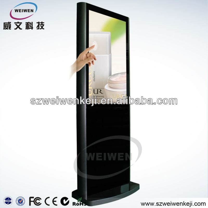 simple design lcd touch screen travelling kiosk