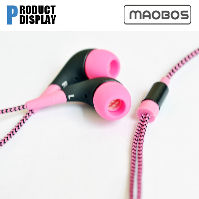 brand name powered sound braided earbuds