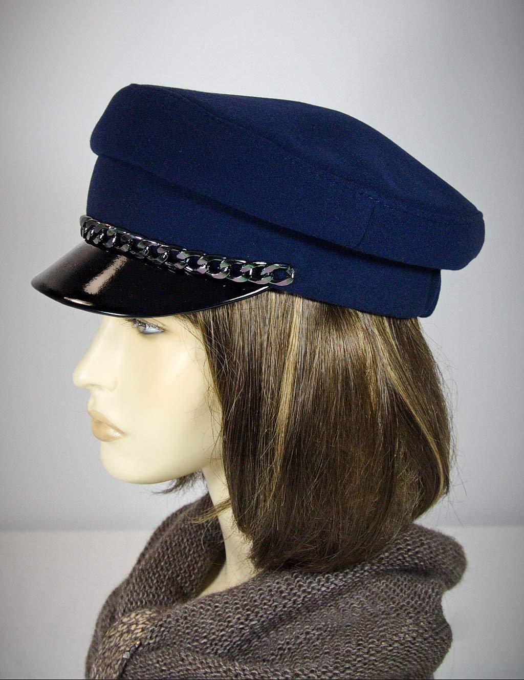 Breton hat, cap with strap, john lennon cap,baker boy cap, captains hat, breton style, baker cap, blue breton hat, cape breton hat.