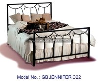 Bedroom Metal Bed Size In Single And Double With Antique Europe Style Vintage Apperance Home Furniture