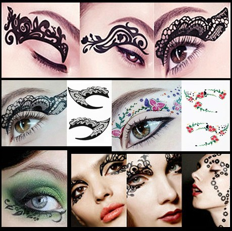 Eye Rock Artist Sexy Eyes Tattoo Makeup Smoky Eyes Eyeshadow