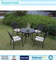 Most Popular Products Cast Aluminum Table And Chair 5PC