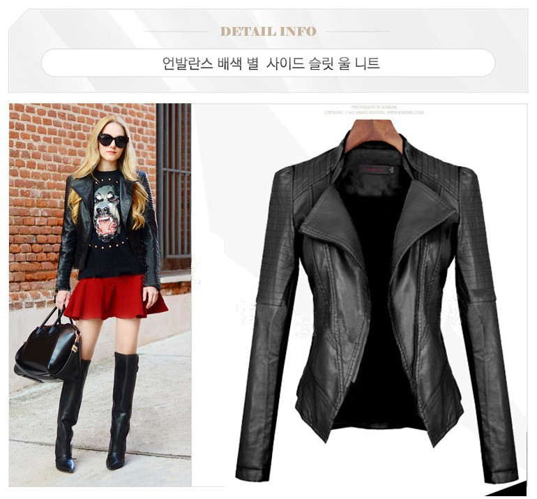 Fashion sexy women's leather jacket, women jacket, leather jacket--AWW0636