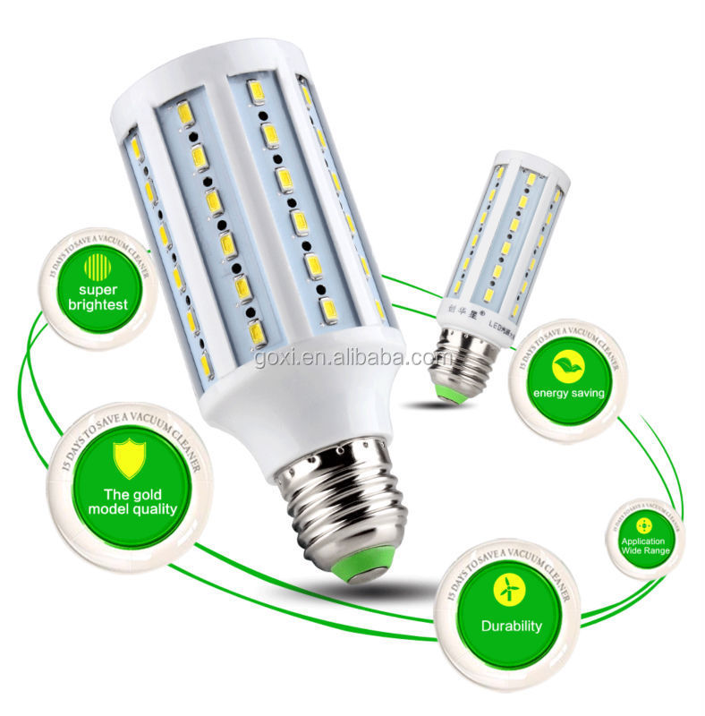 2015 product led corn light,18w led bulb smd5730 e27/b22 led corn light