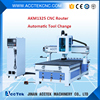 Automatic cnc center machine wood 1325/ 4-axis cnc machining center