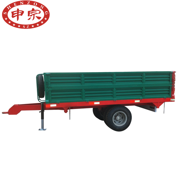 5 Ton Tractor Trolley Turntable Farm Trailer With Two Axles