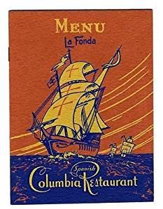 Columbia Gem of Spanish Restaurants Menu La Fonda Ybor City Tampa Florida 1950's