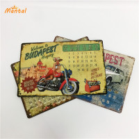 SEDEX WCA NBCU factory wholesale decorative custom embossed retro sign metal vintage tin signs