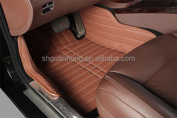 hot pressed leather material 5D car mat