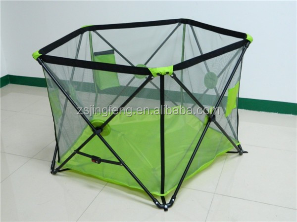 Metal Unique Pop N Play Portable Playard For Baby Safety With Traveling Bag
