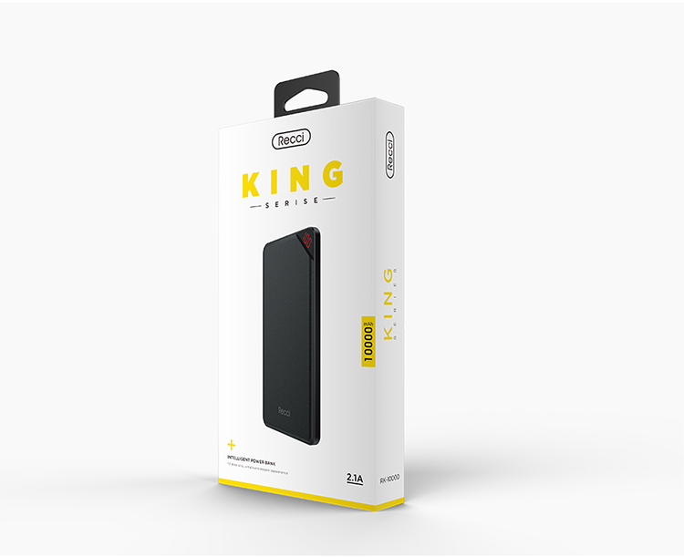Recci king series ultra-thin portable phone charger power bank for promotional gift